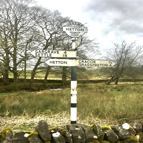 Rural signpost to Hetton