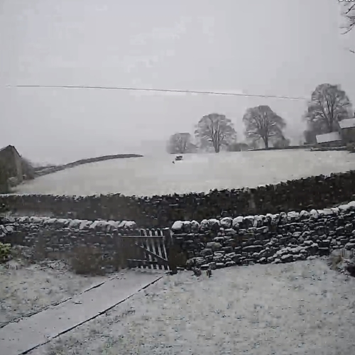 A typical snowy January 2021 in The Yorkshire Dales